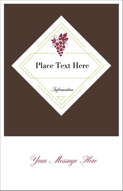 "5"" x 8½"" Half Fold Card - Grapes"