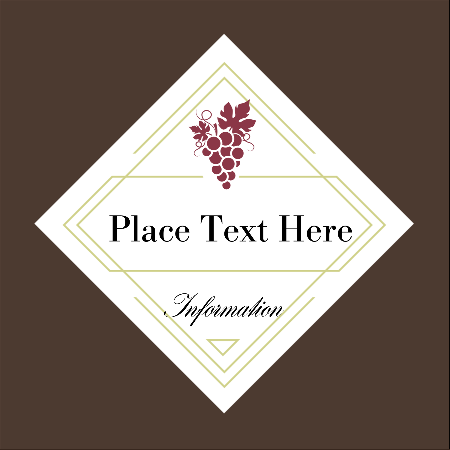 "2"" x 2"" Sqaure Label - Grapes"