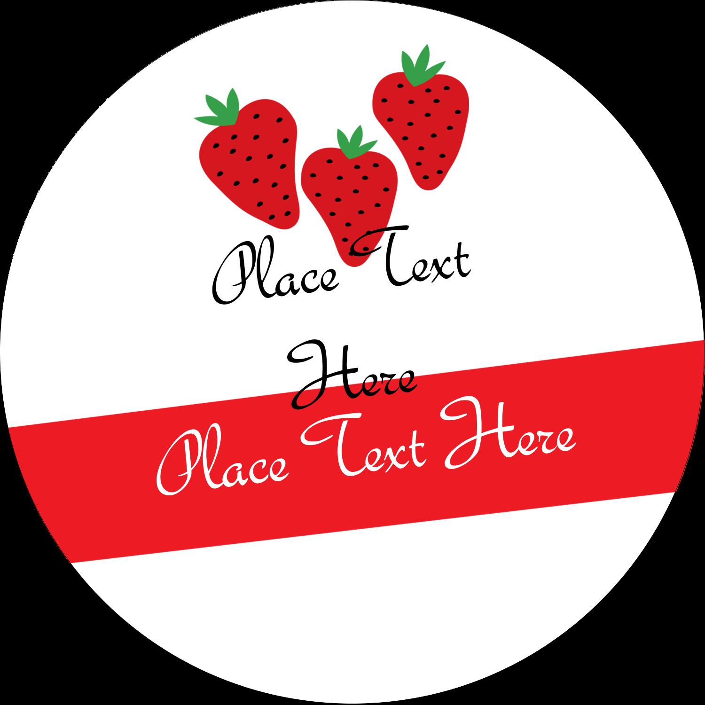 "2½"" Round Label - Strawberry Preserves"