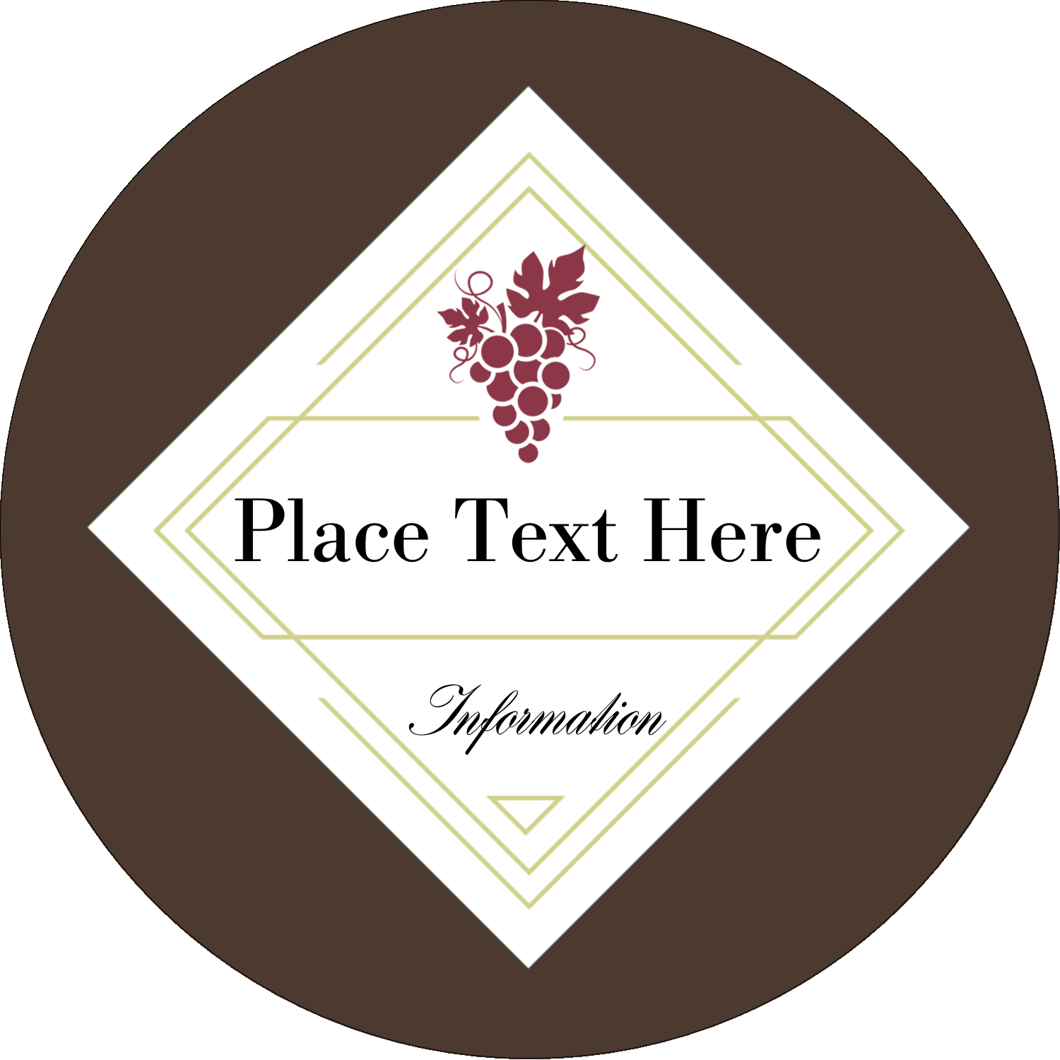 "2½"" Round Label - Grapes"