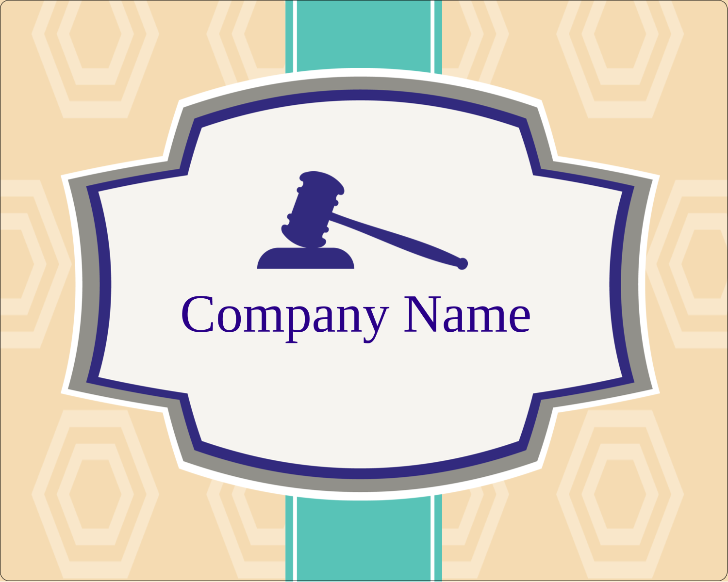 "3"" x 3¾"" Rectangular Label - Gavel Purple"
