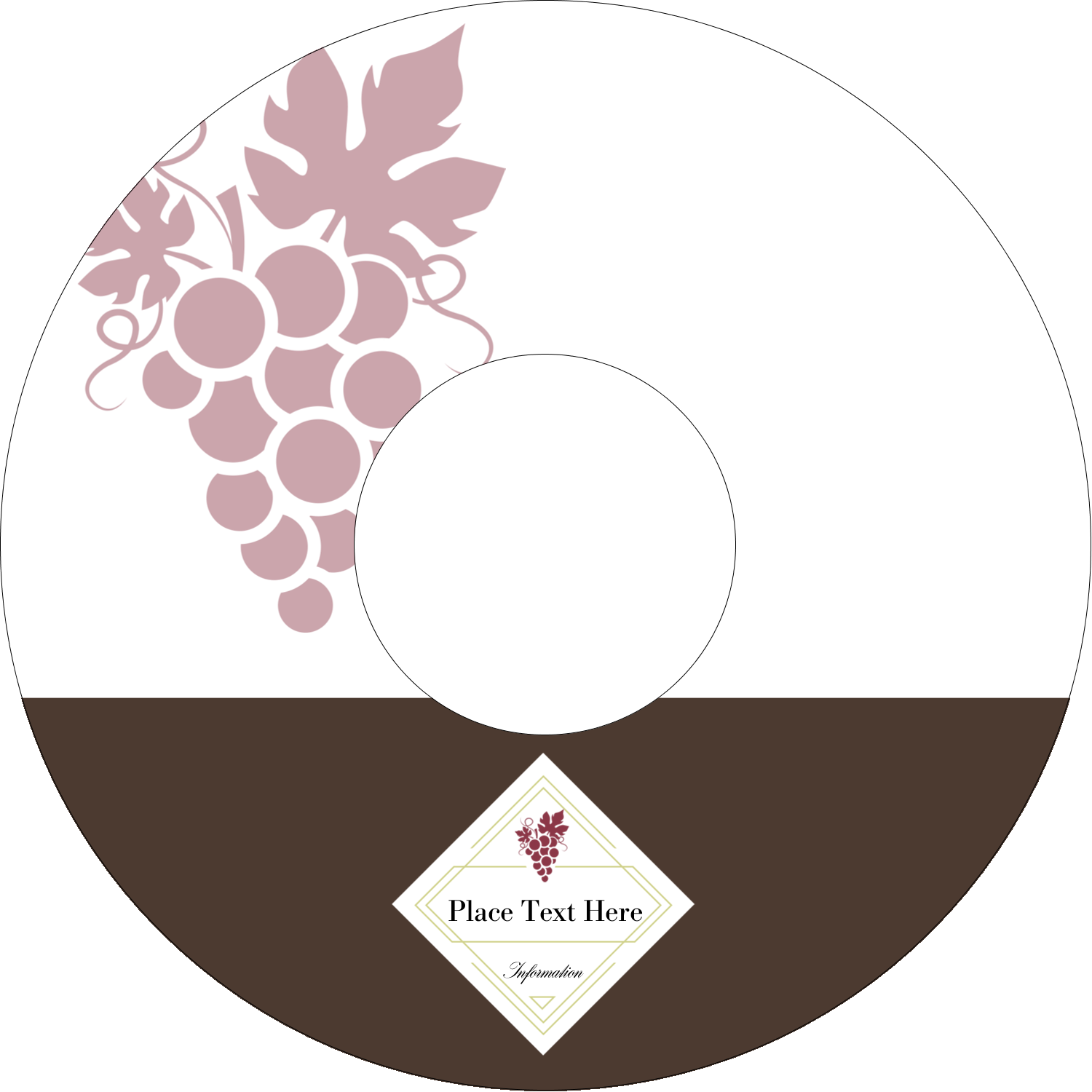 "4.65"" CD-DVD Label - Grapes"