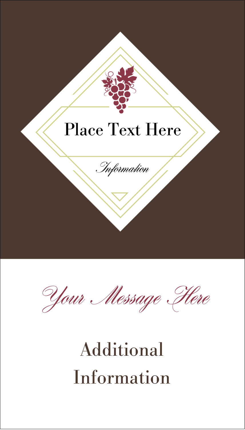 "3½"" x 2"" Business Card - Grapes"