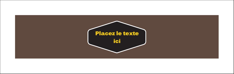 """3½"""" x 11"""" Affichette - Motif géométrique noir"""