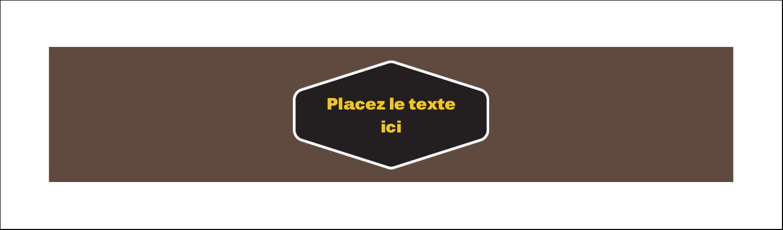 """2½"""" x 8½"""" Affichette - Motif géométrique noir"""