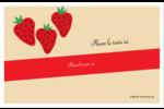 Fraises en conserve Cartes de souhaits pliées en deux - gabarit prédéfini. <br/>Utilisez notre logiciel Avery Design & Print Online pour personnaliser facilement la conception.