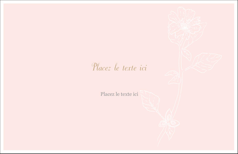 """5½"""" x 8½"""" Cartes de souhaits pliées en deux - Fleur rose"""