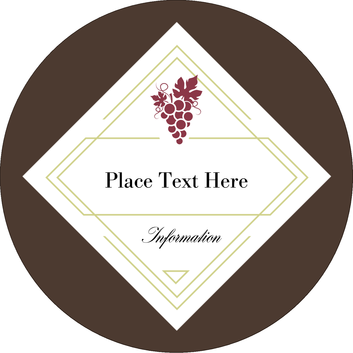 "3"" Round Label - Grapes"
