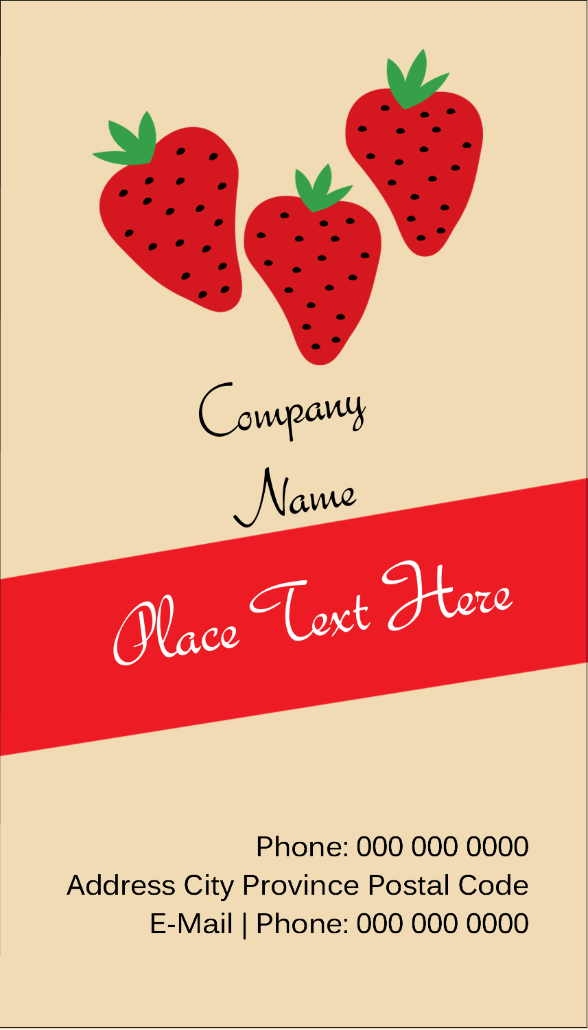 "3½"" x 2"" Business Card - Strawberry Preserves"