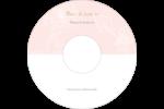 Fleur rose Étiquettes Pour Médias - gabarit prédéfini. <br/>Utilisez notre logiciel Avery Design & Print Online pour personnaliser facilement la conception.