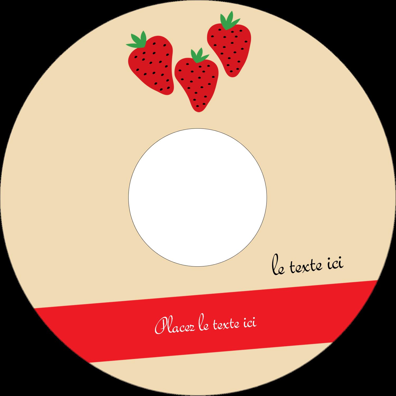 CD/DVD Étiquettes Pour Médias - Fraises en conserve
