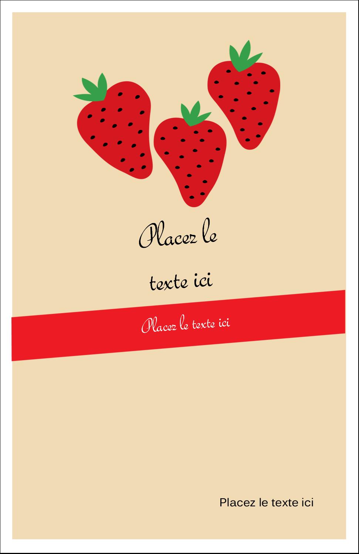 """8½"""" x 5"""" Cartes Et Articles D'Artisanat Imprimables - Fraises en conserve"""