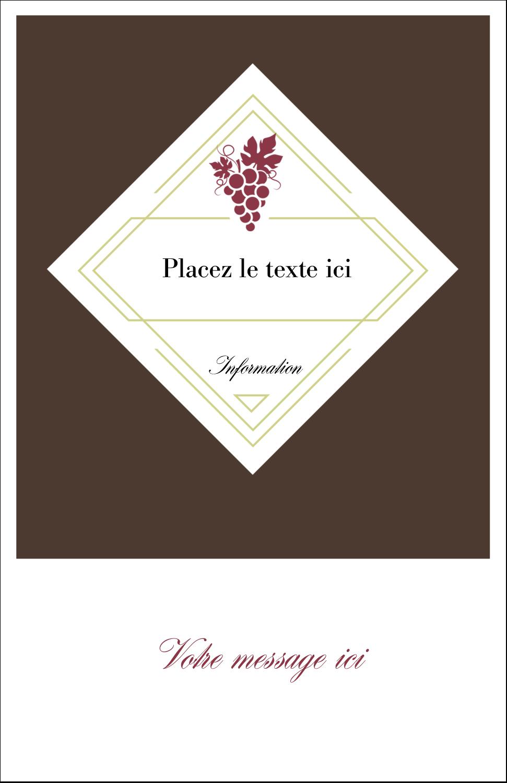 """8½"""" x 5"""" Cartes Et Articles D'Artisanat Imprimables - Raisins"""
