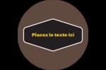 Motif géométrique noir Étiquettes Voyantes - gabarit prédéfini. <br/>Utilisez notre logiciel Avery Design & Print Online pour personnaliser facilement la conception.
