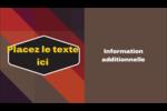 Motif géométrique noir Carte d'affaire - gabarit prédéfini. <br/>Utilisez notre logiciel Avery Design & Print Online pour personnaliser facilement la conception.