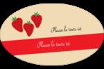 Fraises en conserve Étiquettes ovales - gabarit prédéfini. <br/>Utilisez notre logiciel Avery Design & Print Online pour personnaliser facilement la conception.