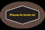 Motif géométrique noir Étiquettes ovales - gabarit prédéfini. <br/>Utilisez notre logiciel Avery Design & Print Online pour personnaliser facilement la conception.