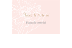 Fleur rose Étiquettes carrées - gabarit prédéfini. <br/>Utilisez notre logiciel Avery Design & Print Online pour personnaliser facilement la conception.