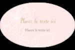 Fleur rose Étiquettes ovales - gabarit prédéfini. <br/>Utilisez notre logiciel Avery Design & Print Online pour personnaliser facilement la conception.