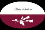 Roses en fleur Étiquettes ovales - gabarit prédéfini. <br/>Utilisez notre logiciel Avery Design & Print Online pour personnaliser facilement la conception.