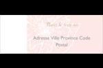 Fleur rose Étiquettes D'Adresse - gabarit prédéfini. <br/>Utilisez notre logiciel Avery Design & Print Online pour personnaliser facilement la conception.