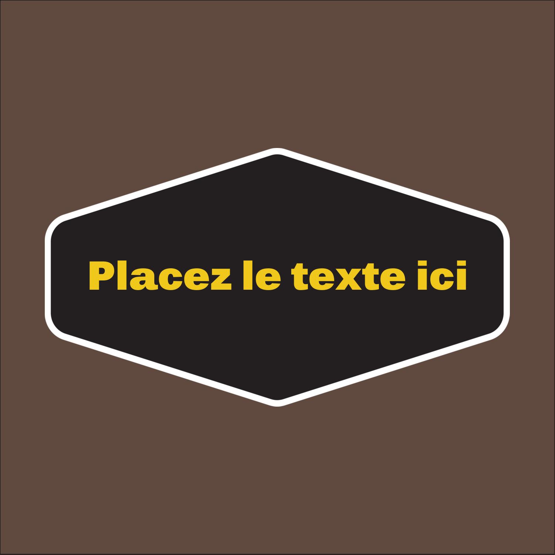"""1½"""" x 1½"""" Étiquettes carrées - Motif géométrique noir"""