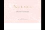 Fleur rose Étiquettes rectangulaires - gabarit prédéfini. <br/>Utilisez notre logiciel Avery Design & Print Online pour personnaliser facilement la conception.