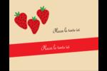Fraises en conserve Étiquettes rectangulaires - gabarit prédéfini. <br/>Utilisez notre logiciel Avery Design & Print Online pour personnaliser facilement la conception.
