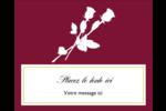 Roses en fleur Étiquettes rectangulaires - gabarit prédéfini. <br/>Utilisez notre logiciel Avery Design & Print Online pour personnaliser facilement la conception.