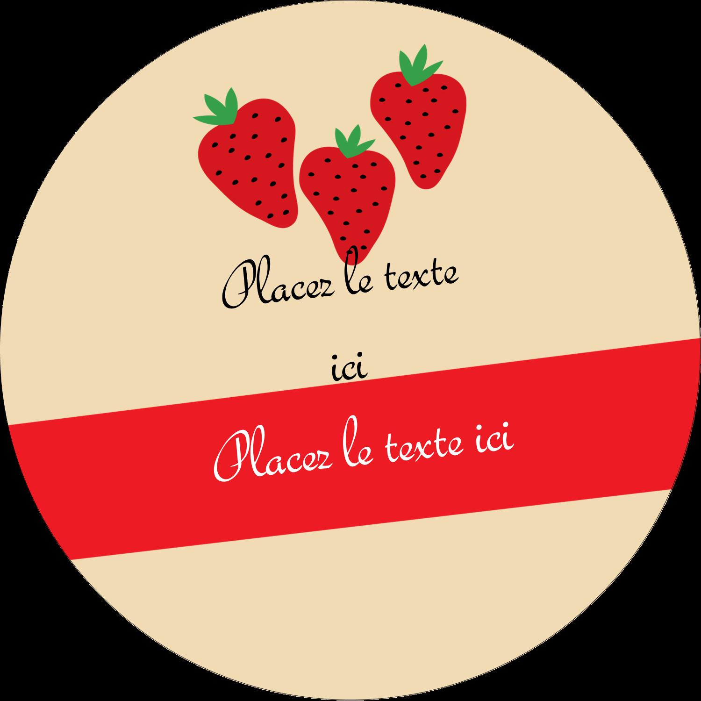 """2½"""" Diameter Étiquettes rondes - Fraises en conserve"""
