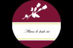 Roses en fleur Étiquettes rondes - gabarit prédéfini. <br/>Utilisez notre logiciel Avery Design & Print Online pour personnaliser facilement la conception.