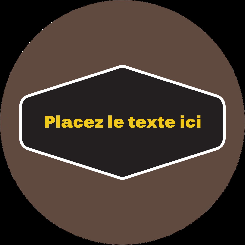 """2"""" Diameter Étiquettes rondes - Motif géométrique noir"""