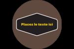 Motif géométrique noir Étiquettes rondes - gabarit prédéfini. <br/>Utilisez notre logiciel Avery Design & Print Online pour personnaliser facilement la conception.