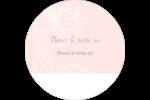 Fleur rose Étiquettes rondes - gabarit prédéfini. <br/>Utilisez notre logiciel Avery Design & Print Online pour personnaliser facilement la conception.