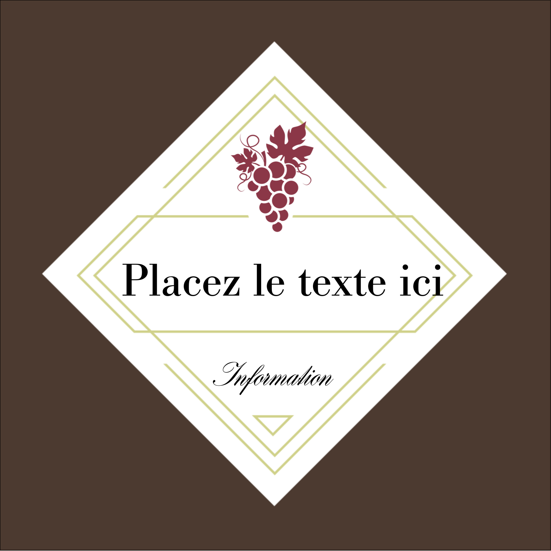 """2"""" x 2"""" Étiquettes carrées - Raisins"""