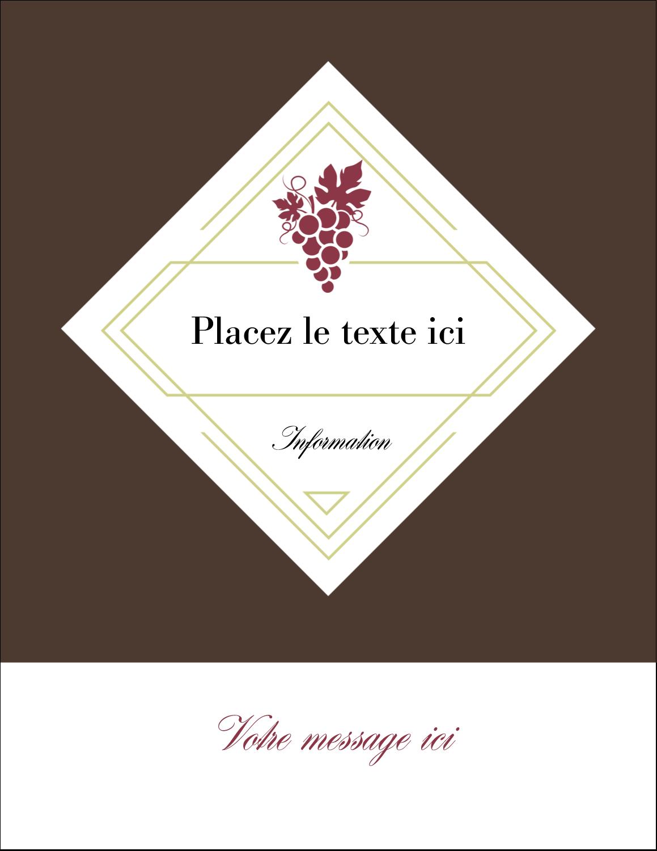 "5½"" x 4¼"" Carte Postale - Raisins"