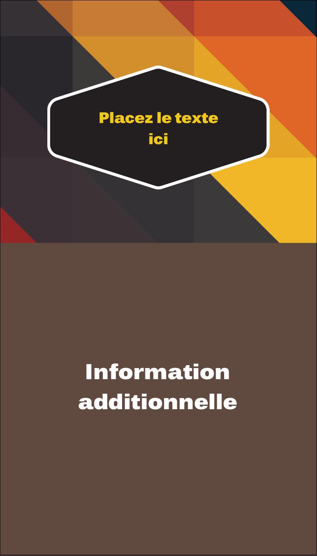"""3½"""" x 2"""" Carte d'affaire - Motif géométrique noir"""