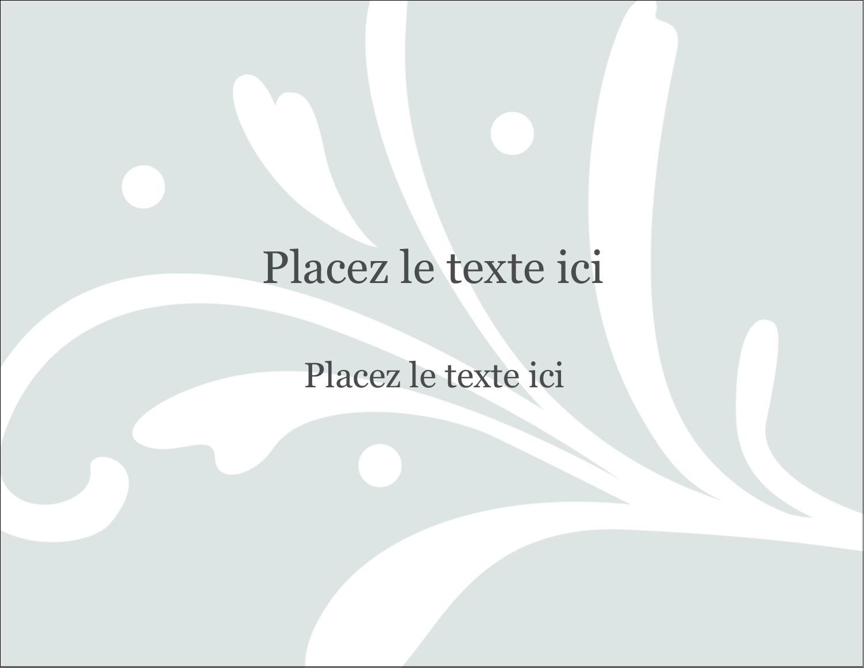 """4¼"""" X 5½"""" Carte Postale - Filigrane gris"""