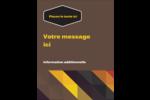 Motif géométrique noir Carte Postale - gabarit prédéfini. <br/>Utilisez notre logiciel Avery Design & Print Online pour personnaliser facilement la conception.