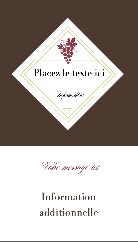 """3½"""" x 2"""" Carte d'affaire - Raisins"""