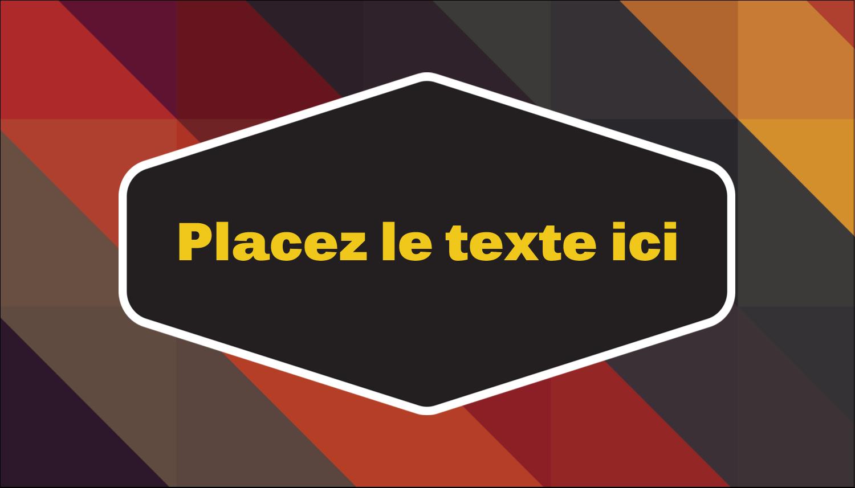 """2"""" x 3½"""" Carte d'affaire - Motif géométrique noir"""