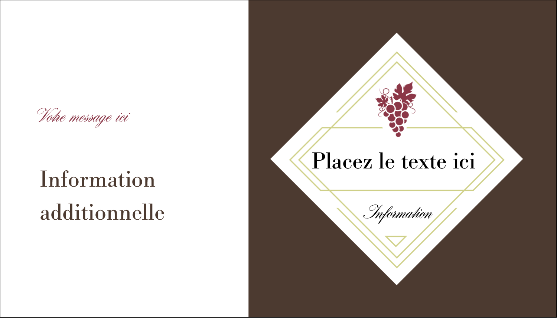 """2"""" x 3½"""" Carte d'affaire - Raisins"""