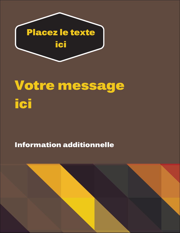 """5½"""" x 4¼"""" Carte Postale - Motif géométrique noir"""