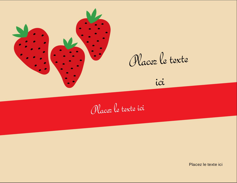 """5½"""" x 4¼"""" Carte Postale - Fraises en conserve"""