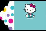 Fête Hello Kitty Étiquettes imprimables - gabarit prédéfini. <br/>Utilisez notre logiciel Avery Design & Print Online pour personnaliser facilement la conception.