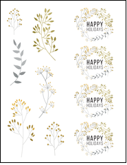 Add a dose of natural shimmer to your next project with this template.
