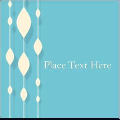 "2"" x 2"" Square Label - Blue Bead Curtain"