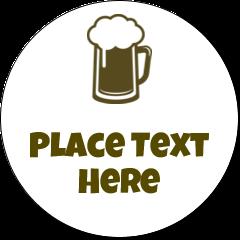 "2½"" Round Label - Beer Image"