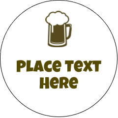 """2"""" Embossed Round Label - Beer Image"""