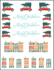 Add holiday cheer with this design for all of your festive needs.